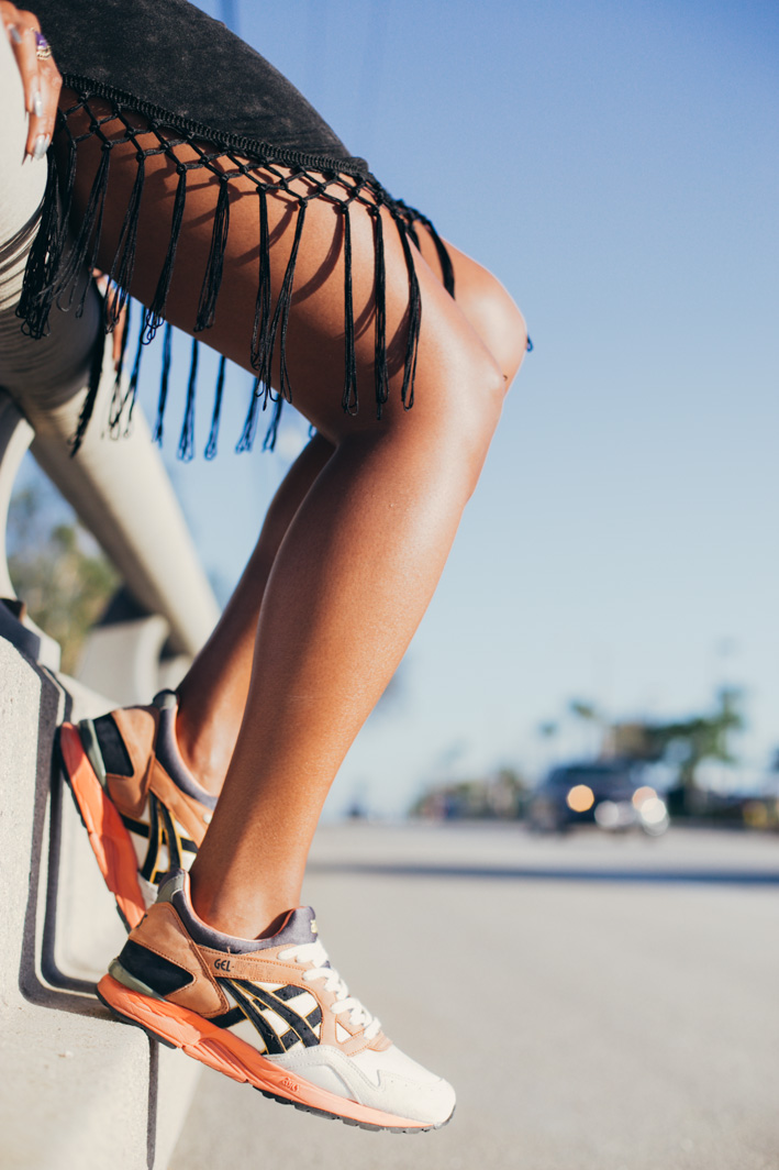 asics sneakers with fringe dress in long beach