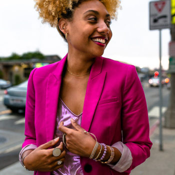 how to wear a pink blazer and how to buy a good blazer-hot pink