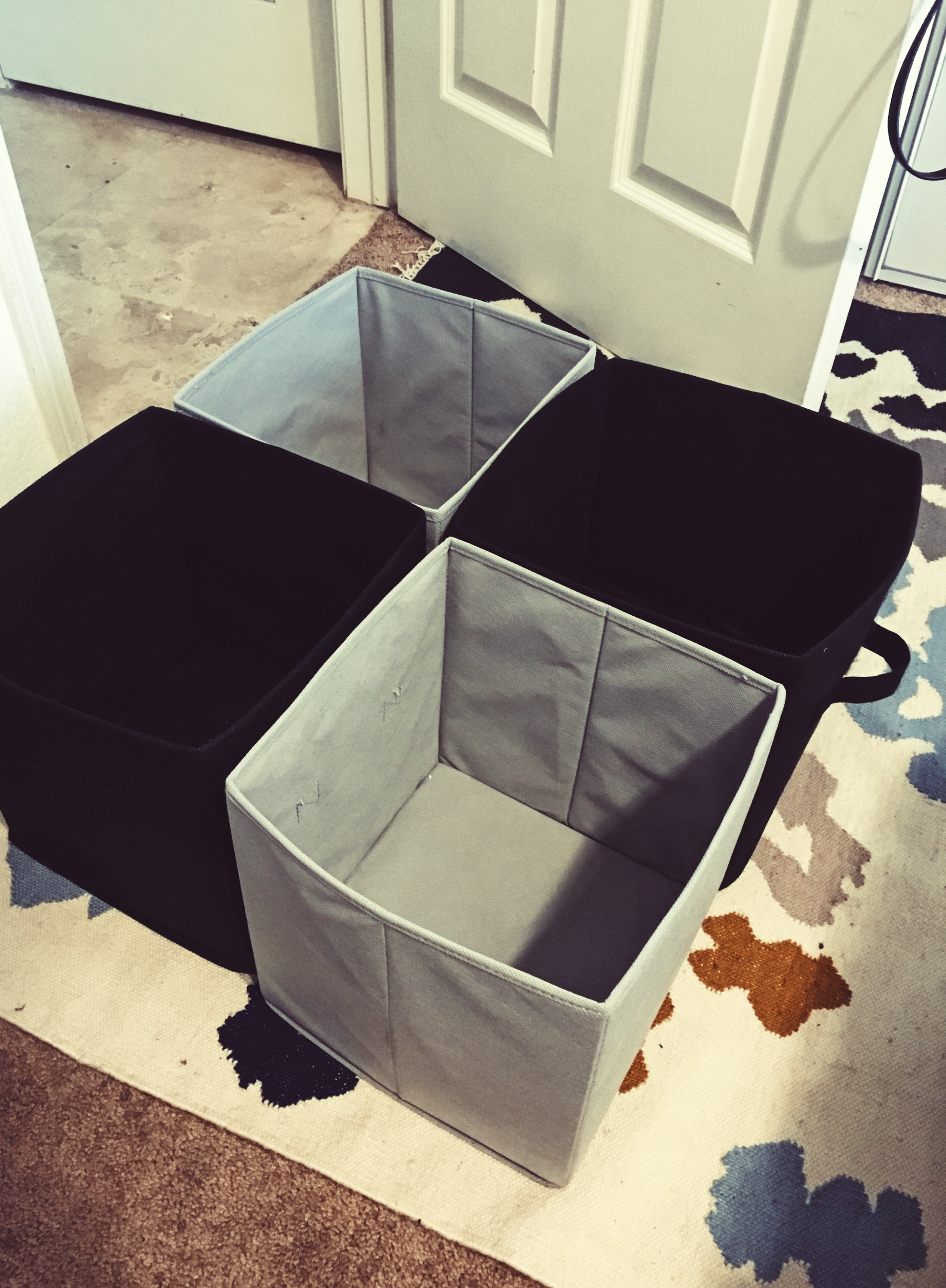on hand storage containers-diy-closet organizing- wear who you are