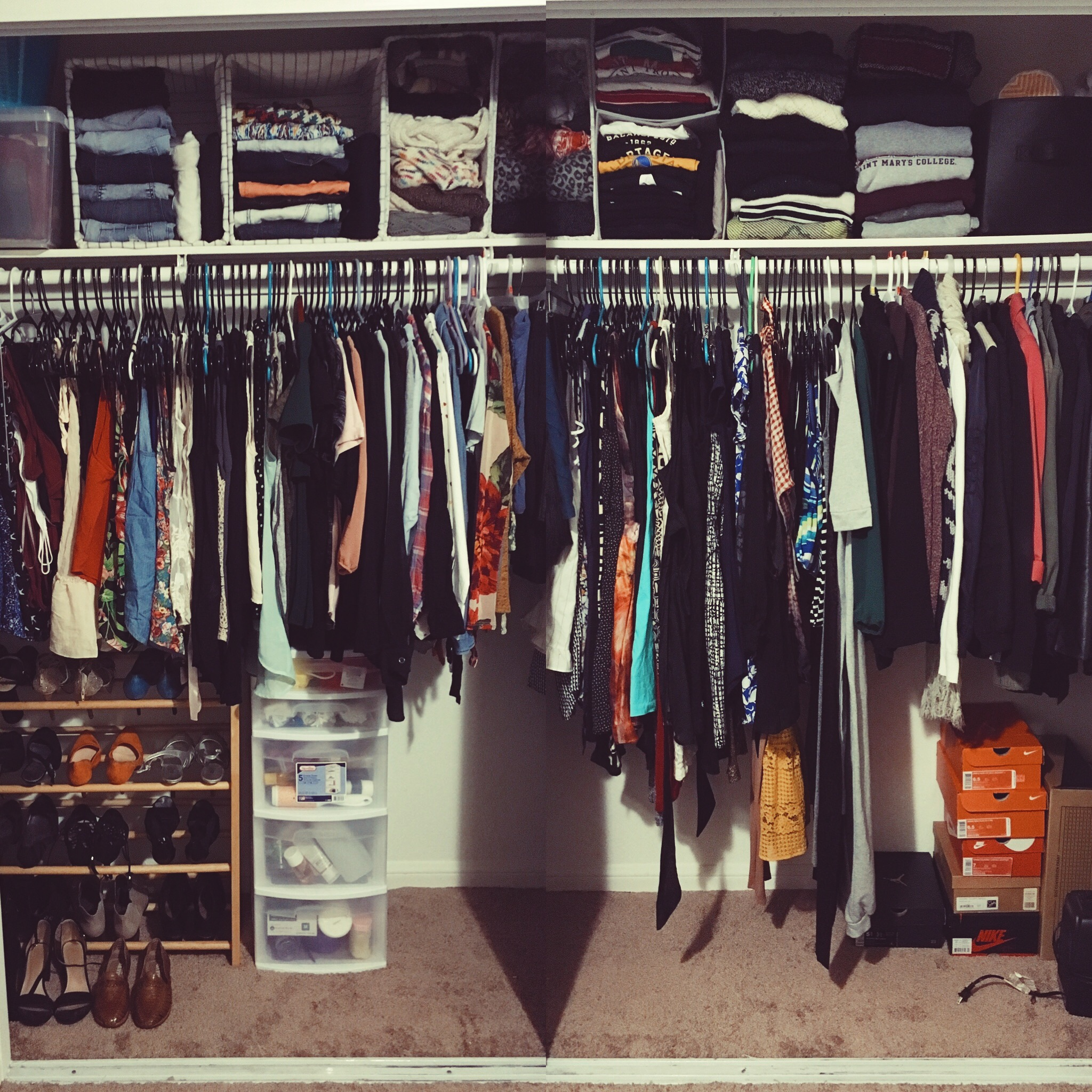 vertical storage-closet organizing-hanging clothing-wear who you are