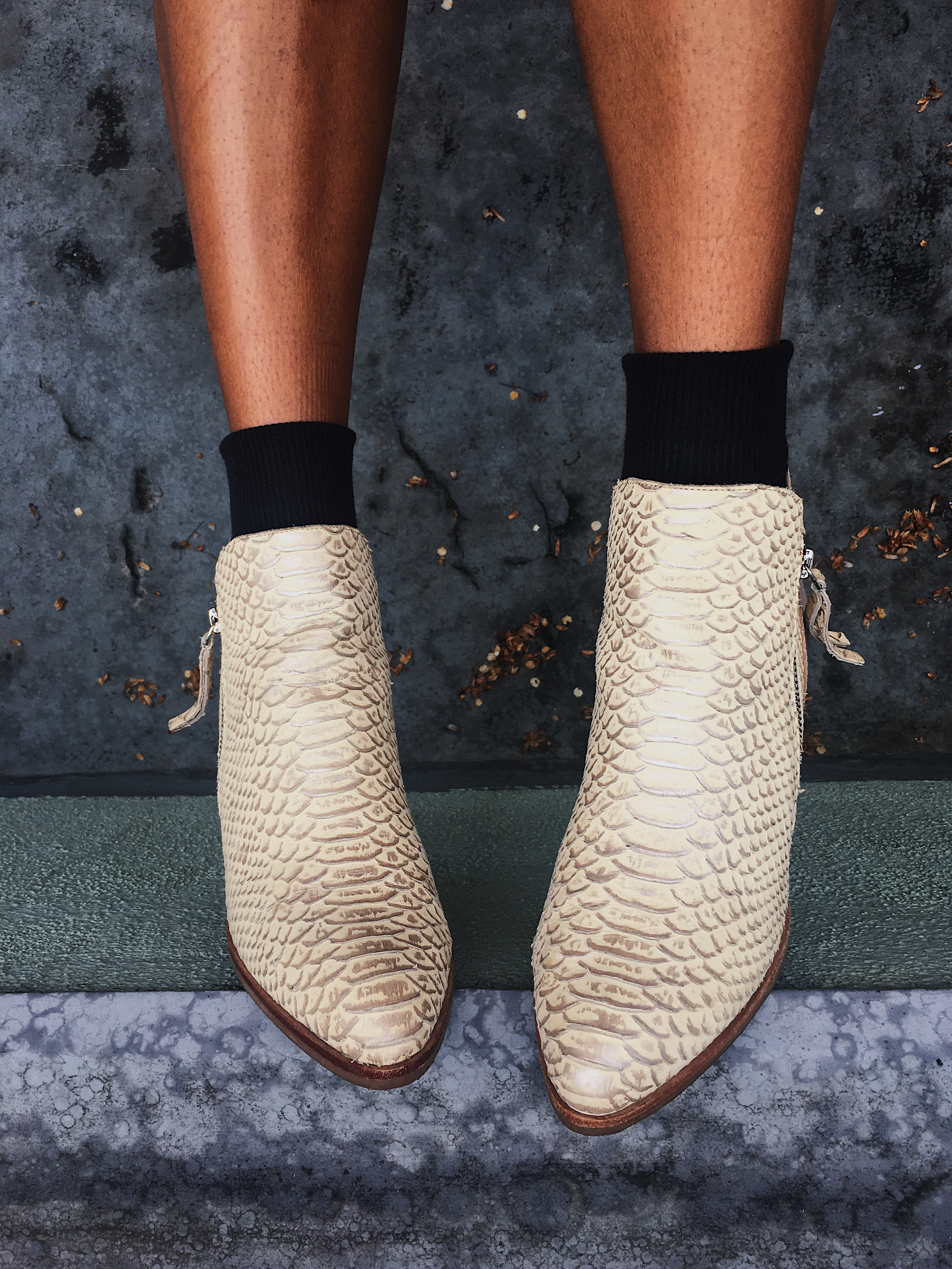 snake print booties-snake print shoes-wear who you are-liveclothesminded