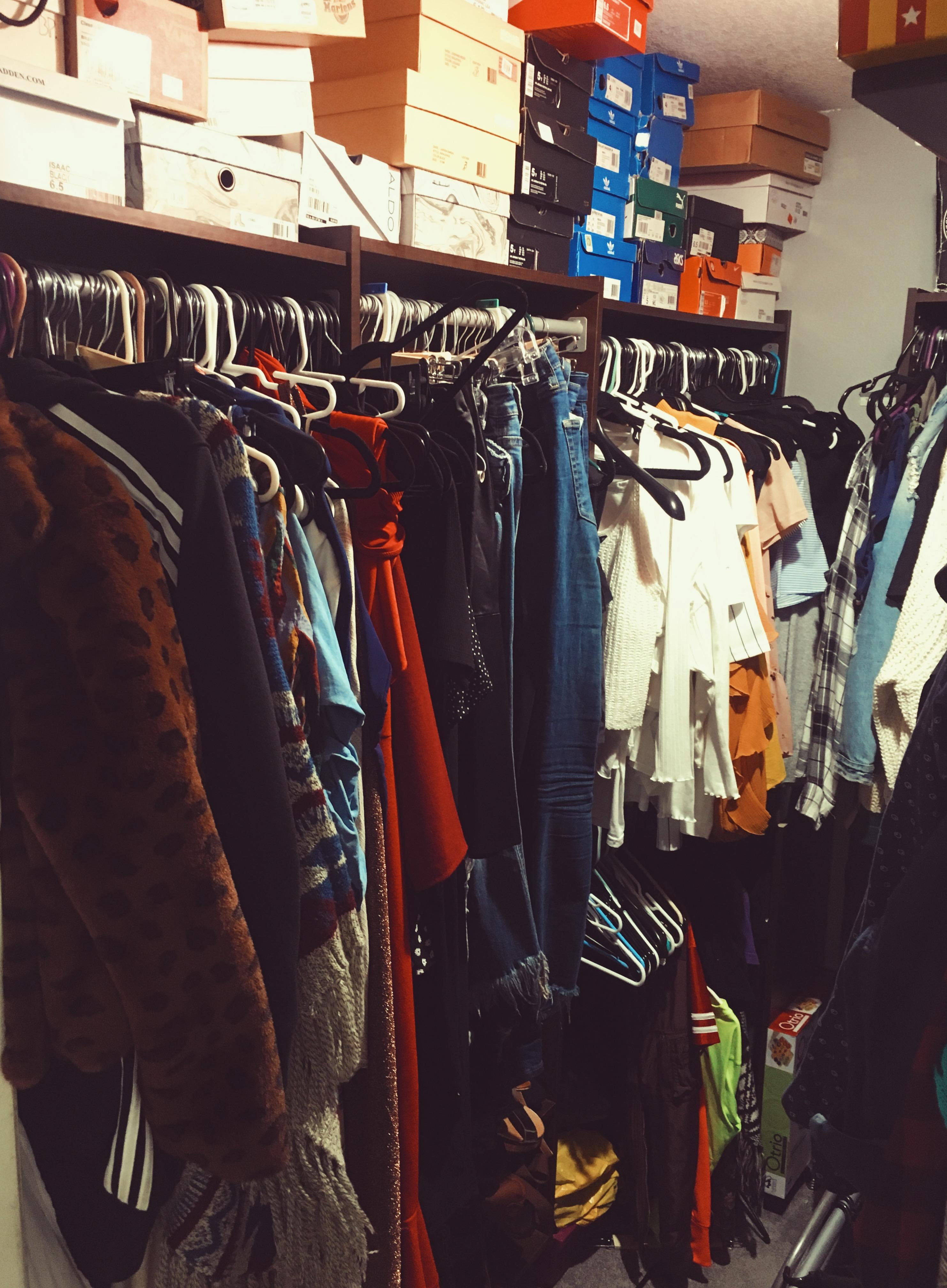over crowded closet-closet organization-overfilled closet-stuffed disorganized closet-wear who you are